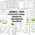 Słownictwo – szkoła- EGZAMIN 8, MATURA