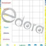 Miesięczny kalendarz obserwatora pogody z naklejkami