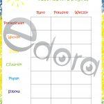 Miesięczny kalendarz obserwatora temperatury