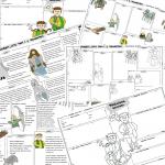 """""""Felix, Net i Nika oraz Gang Niewidzialnych Ludzi"""" – 2 karty (wersja pusta i uzupełniona"""