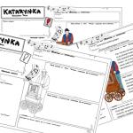 """""""Kajko i Kokosz. Szkoła latania"""" – 3 karty (puste i uzupełnione)"""
