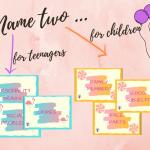 Name two – for teenagers – gra dydaktyczna